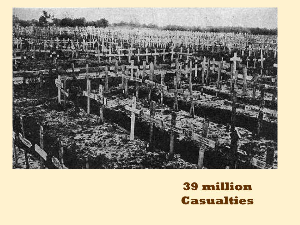 39 million Casualties
