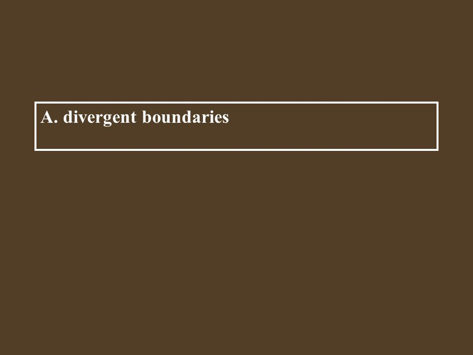 A. divergent boundaries Where magma pushes two plates apart are called ____.