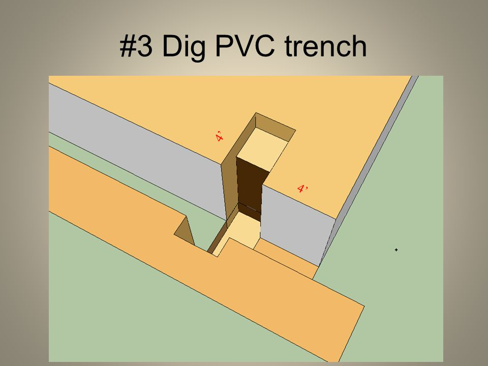 #3 Dig PVC trench 4'