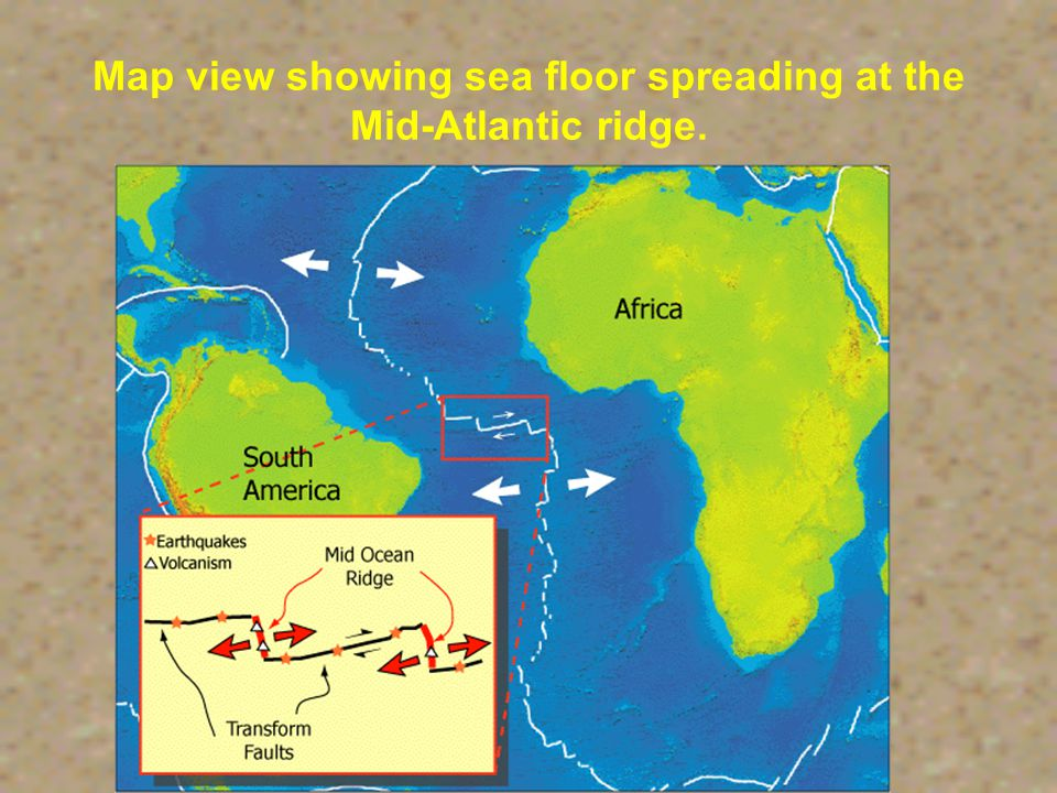 Mid-Ocean Ridge Underwater mountain chain that rises from the ocean basins.