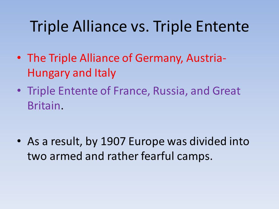 Triple Alliance vs.