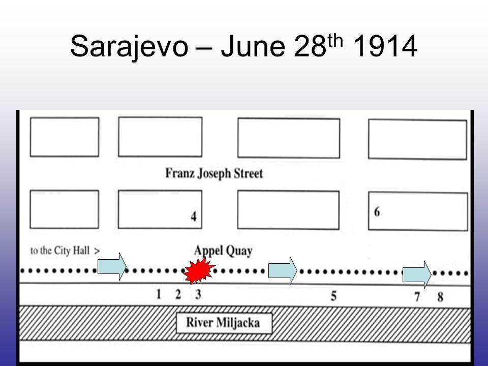 Sarajevo – June 28 th 1914