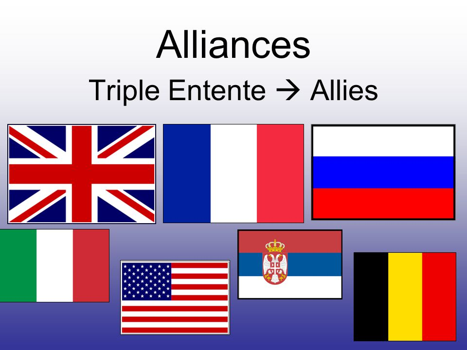 Alliances Triple Entente  Allies