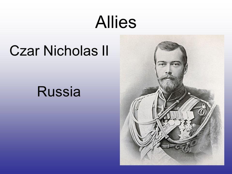 Allies Czar Nicholas II Russia