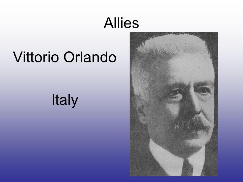 Allies Vittorio Orlando Italy