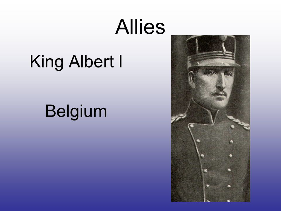 Allies King Albert I Belgium
