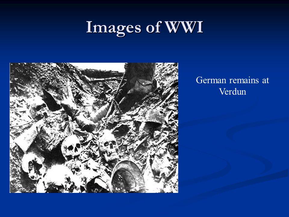 Images of WWI German remains at Verdun