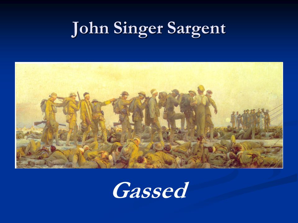 John Singer Sargent Gassed