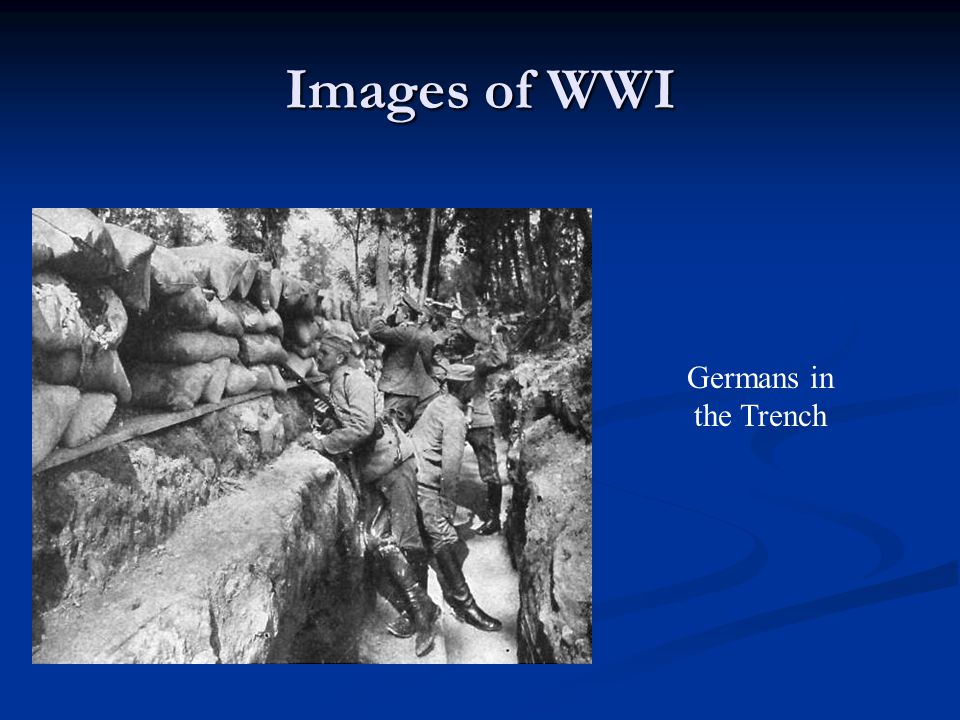 Images of WWI Germans in the Trench