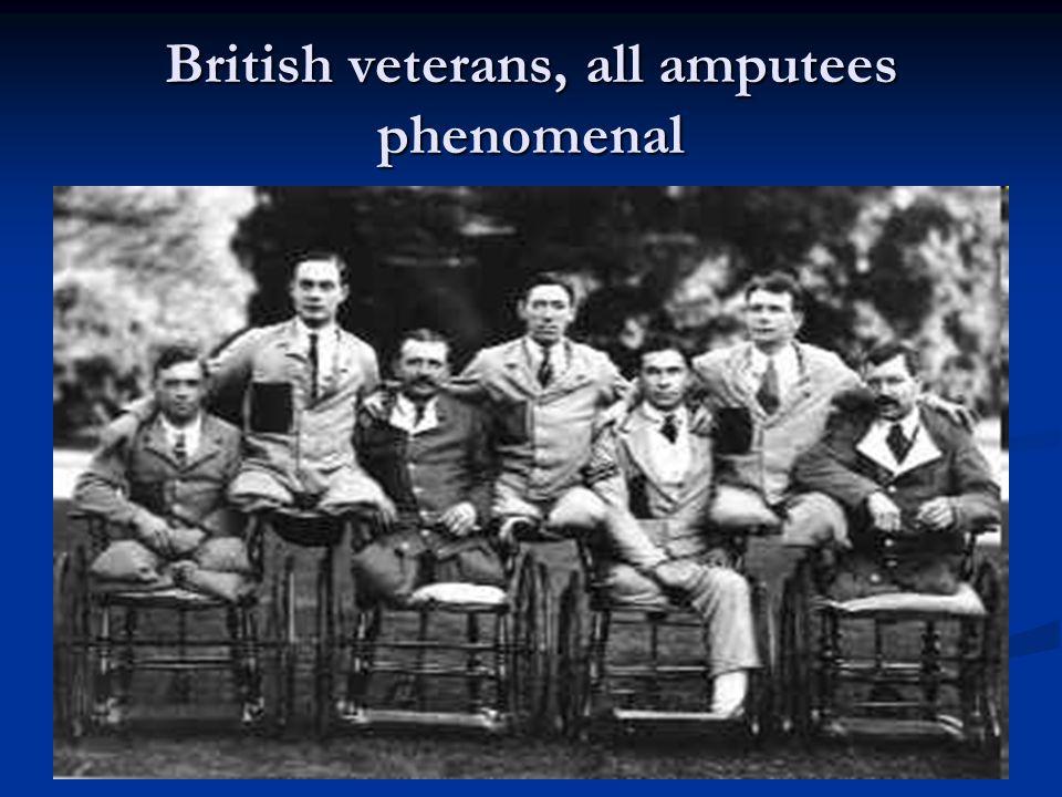 British veterans, all amputees phenomenal