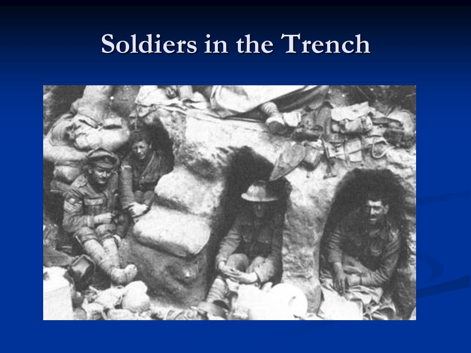 Soldiers in the Trench