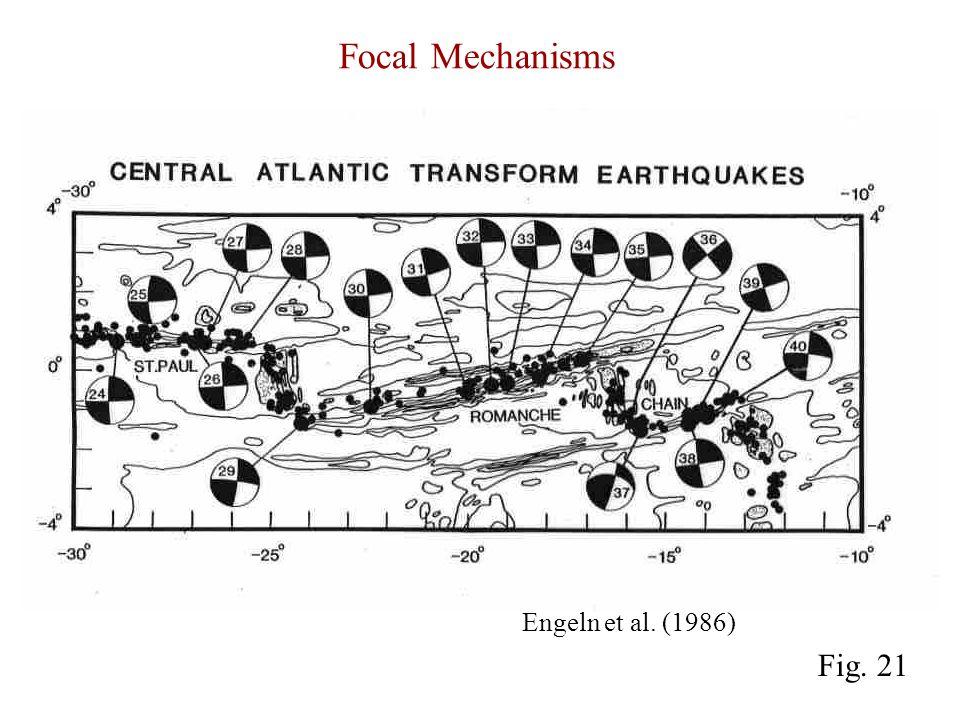 Focal Mechanisms Engeln et al. (1986) Fig. 21