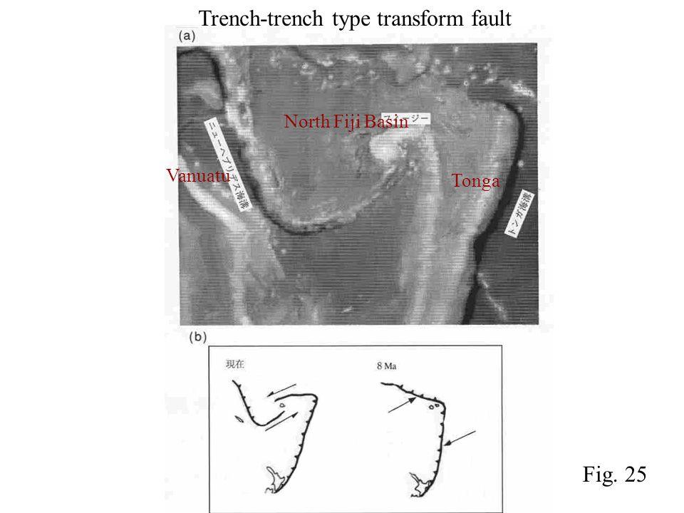 Trench-trench type transform fault North Fiji Basin Tonga Vanuatu Fig. 25