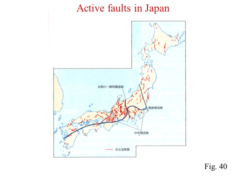 Active faults in Japan Fig. 40