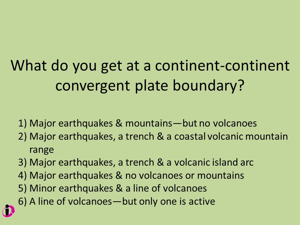 What do you get at a continent-continent convergent plate boundary.