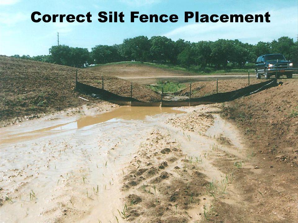Correct Silt Fence Placement