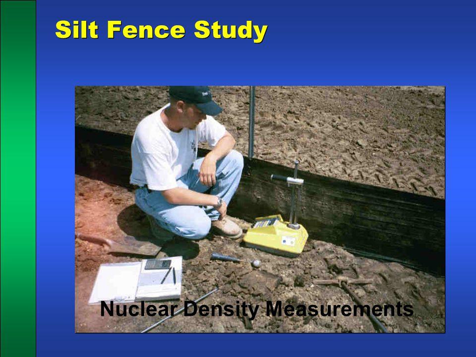 Silt Fence Study Nuclear Density Measurements