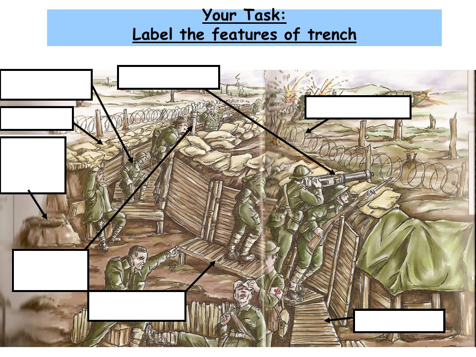 Your Task: Label the features of trench