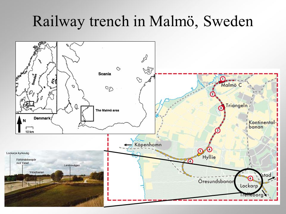 Railway trench in Malmö, Sweden