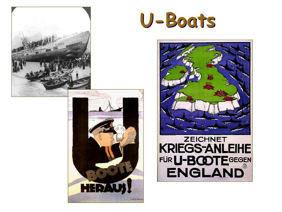 Unterseeboot German submarines a.k.a. U-Boats