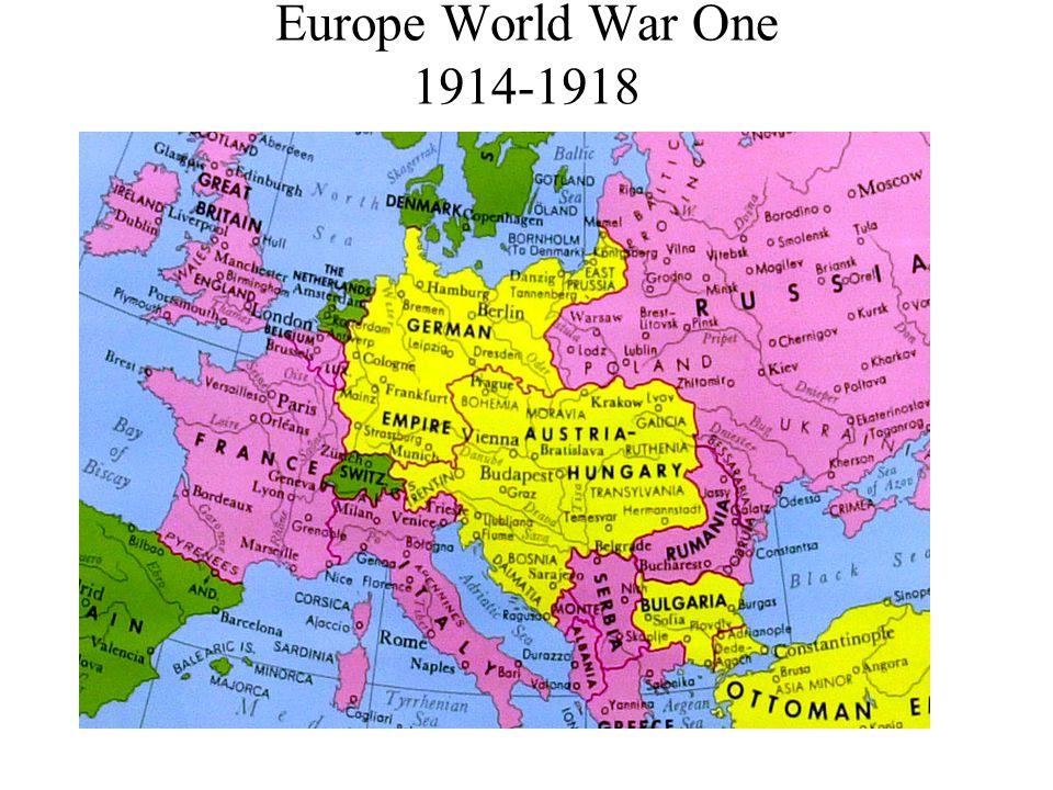 Europe during World War One 1914-1918