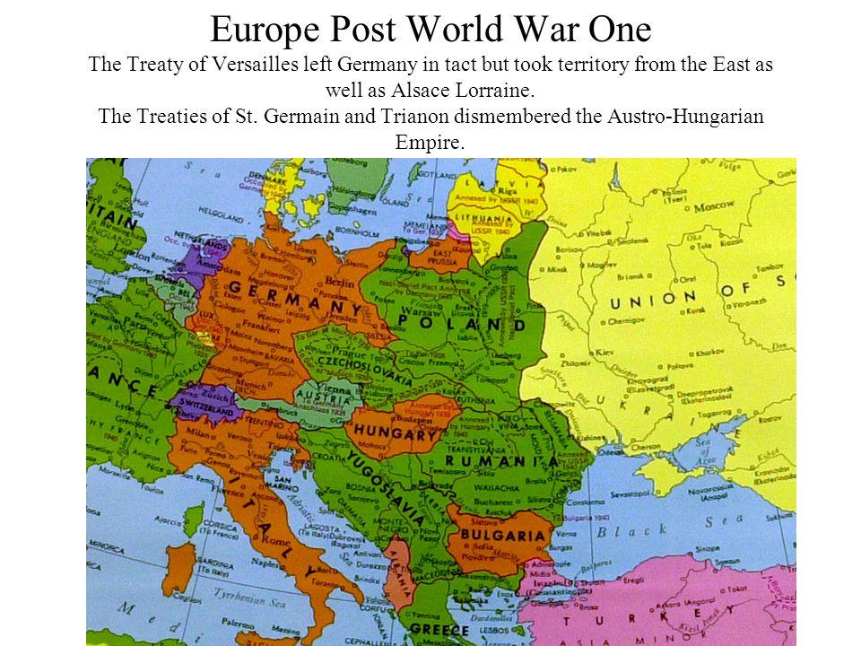 Europe: Post World War One 1919
