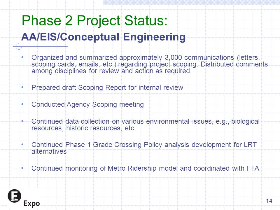 AA/EIS/Conceptual Engineering Organized and summarized approximately 3,000 communications (letters, scoping cards, emails, etc.) regarding project sco
