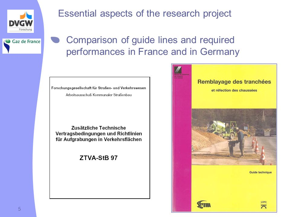Diapo 619/04/2007 6 Essential aspects of the research project Treatment of excavated soils for re-employment as backfill material