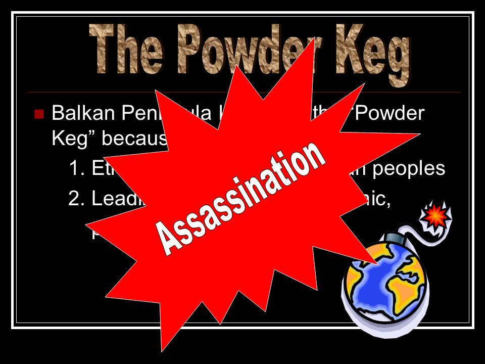 Balkan Peninsula known as the Powder Keg because 1.