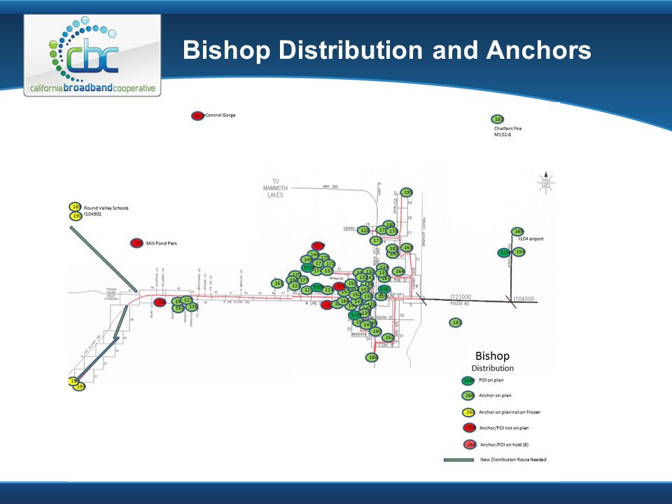 Bishop Distribution and Anchors