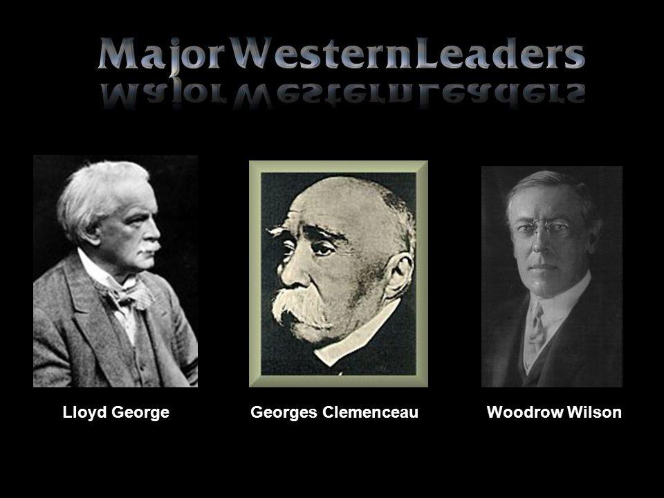 Lloyd George Georges Clemenceau Woodrow Wilson