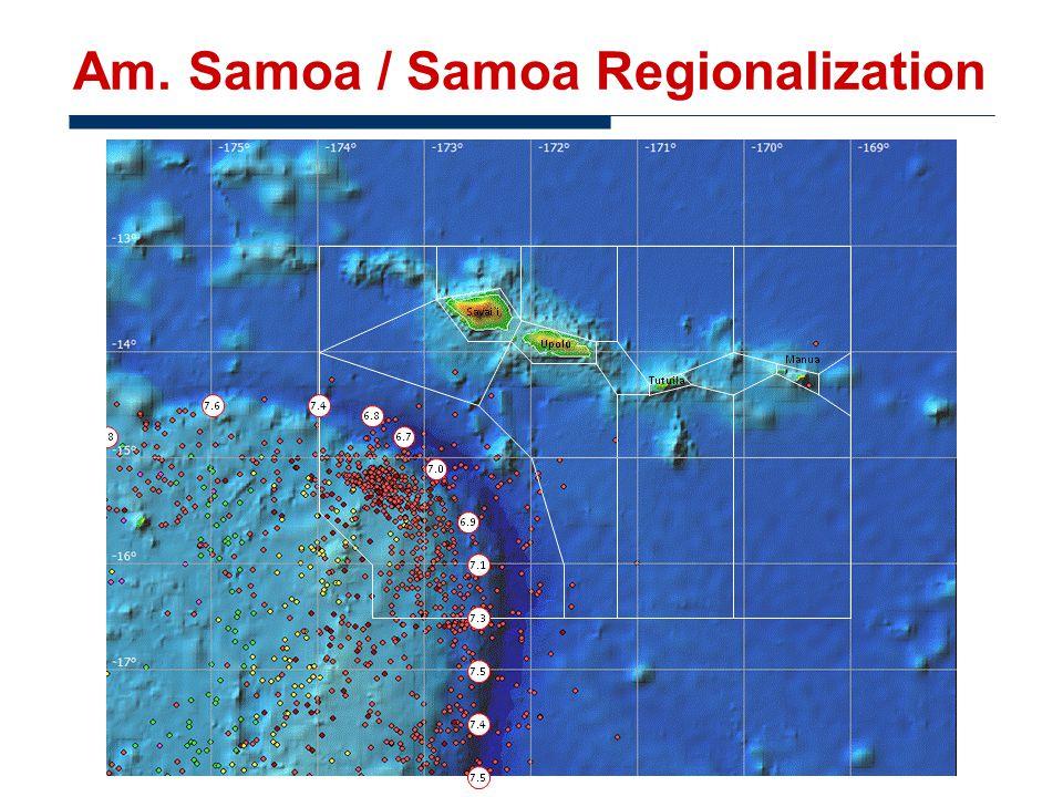 Am. Samoa / Samoa Regionalization