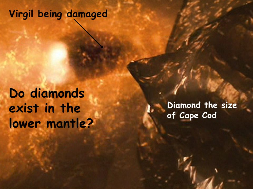 Diamond the size of Cape Cod Virgil being damaged Do diamonds exist in the lower mantle