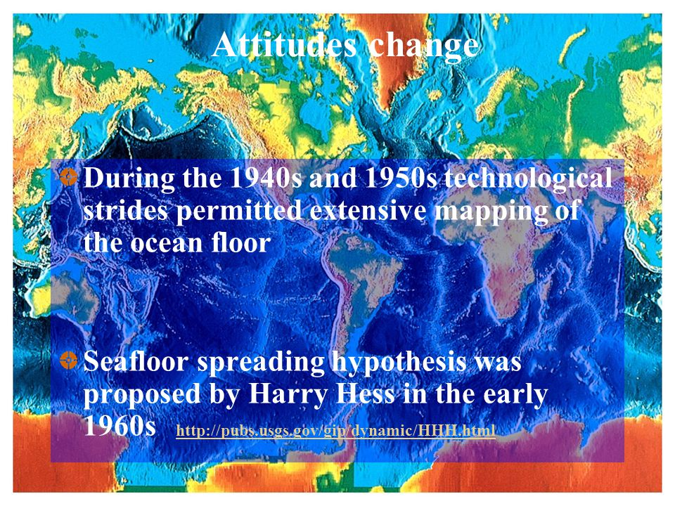 Seafloor spreading in detail Harry Hess: Convection currents in mantle Seafloor spreading occurs along relatively narrow zones, called rift zones, located at the crests of ocean ridges As plates pulled apart, low pressure causes mantle mellting,magma moves into fractures and makes new oceanic lithosphere