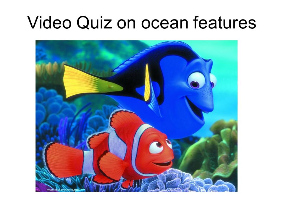 Video Quiz on ocean features