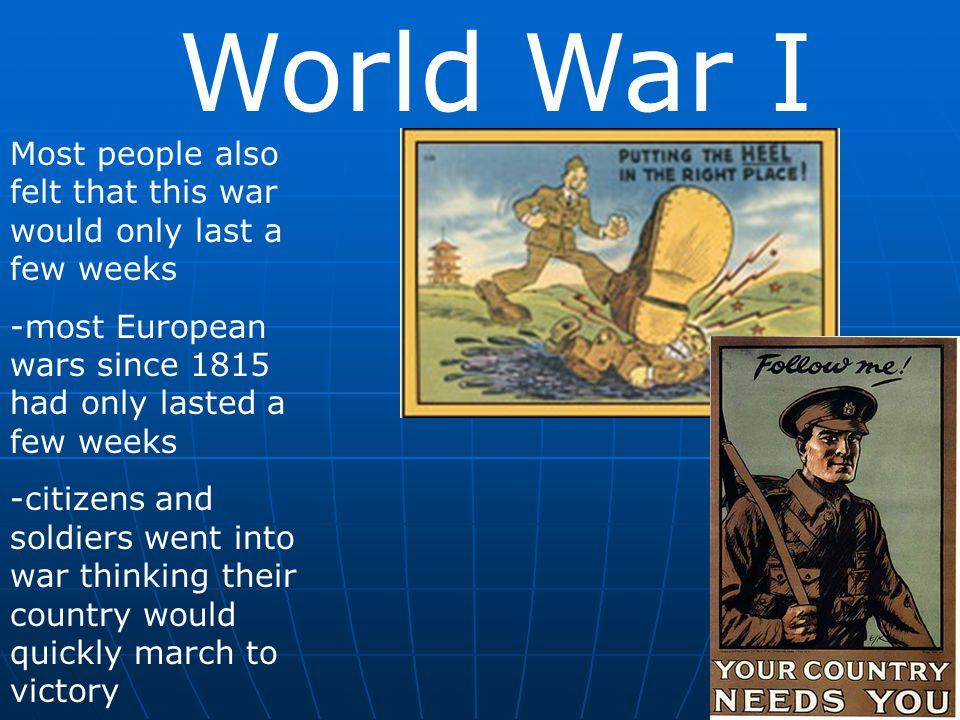 World War I The U.S.