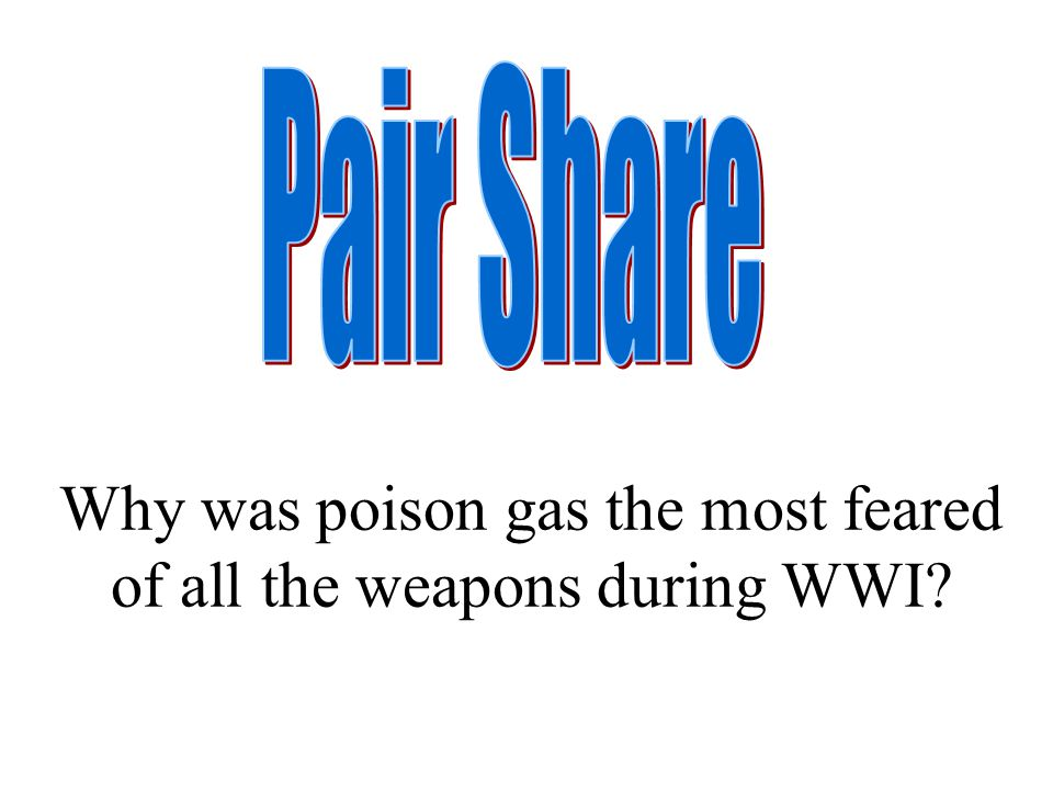 Why was poison gas the most feared of all the weapons during WWI?