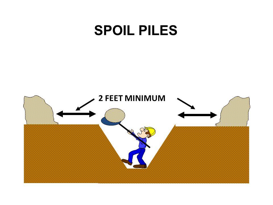 SPOIL PILES 2 FEET MINIMUM Continued