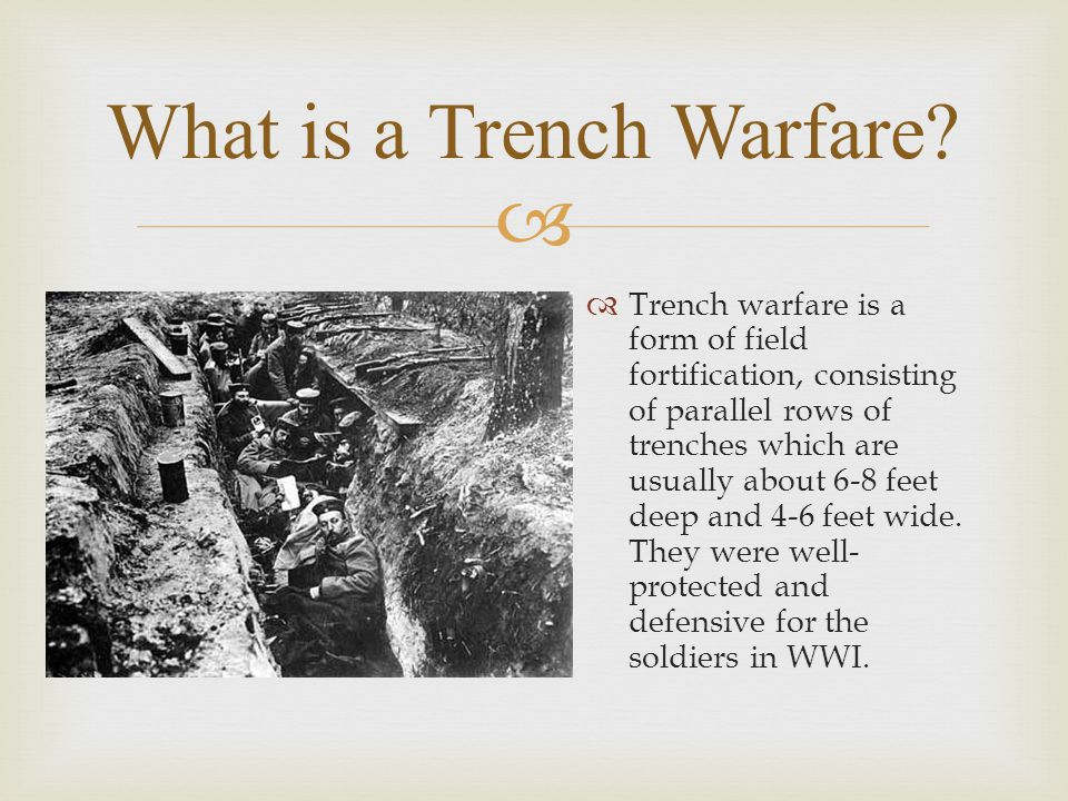   Trench warfare developed due to the failure of the Schlieffen, the chief of the German general staff.