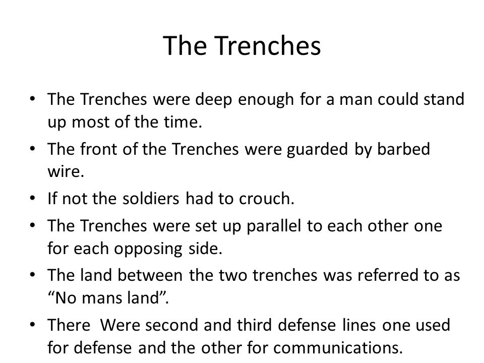 If you have never had trench foot described to you, I will explain.