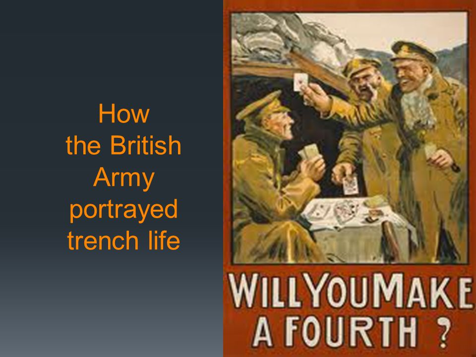 How the British Army portrayed trench life