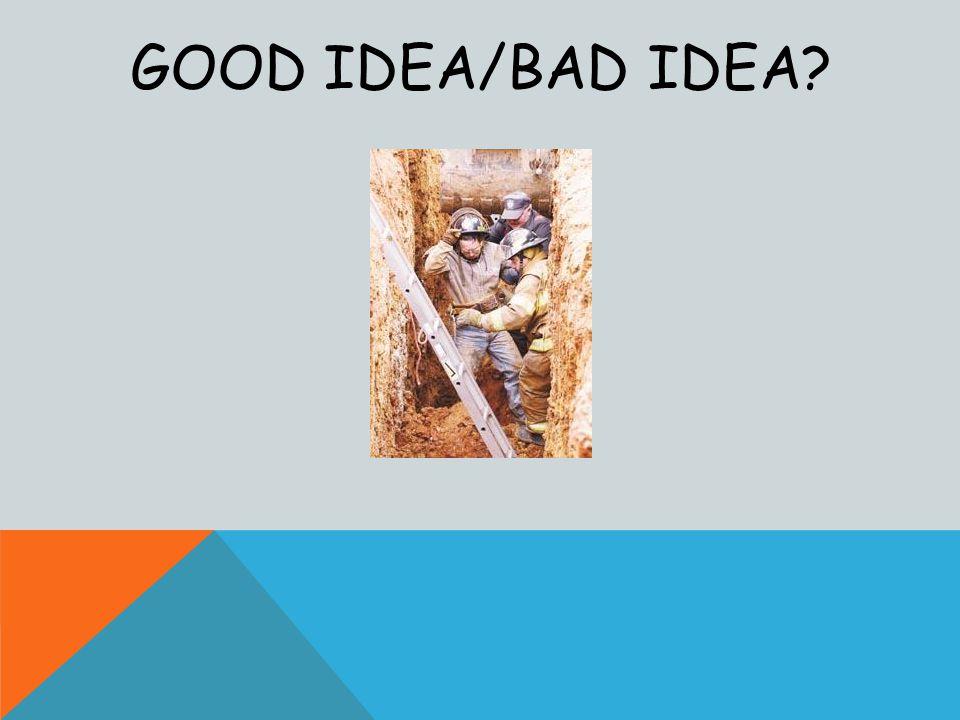 GOOD IDEA/BAD IDEA?