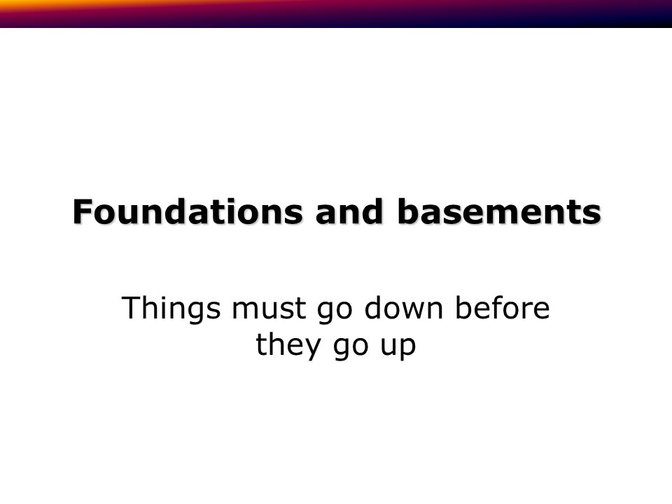 Pile foundations: when you have to go deep concrete subsoil wall backfill weak fill Pile: steel, concrete or timber Ground beam: reinforced concrete, supported by the piles, not the ground