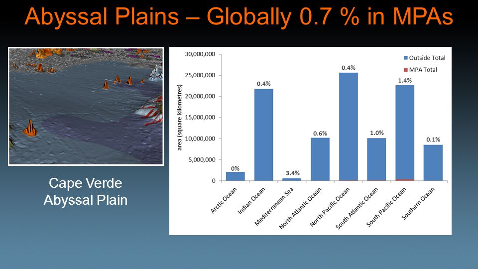 Abyssal Plains – Globally 0.7 % in MPAs Cape Verde Abyssal Plain