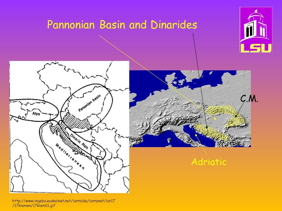 Pannonian Basin and Dinarides http://www.ingeba.euskalnet.net/lurralde/lurranet/lur17 /17klemen/17klem01.gif Adriatic C.M.