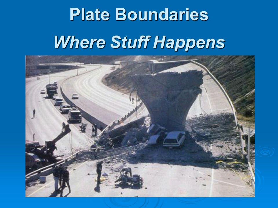 Plate Boundaries Where Stuff Happens