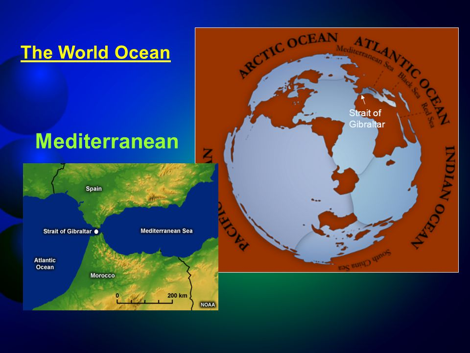 The World Ocean Strait of Gibraltar Mediterranean