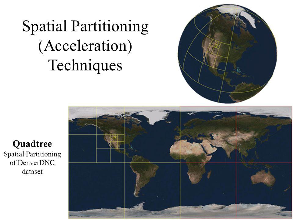 Spatial Partitioning (Acceleration) Techniques Quadtree Spatial Partitioning of DenverDNC dataset