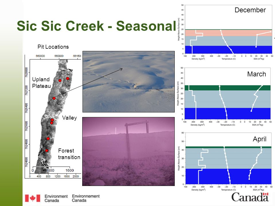 December March April March Sic Sic Creek - Seasonal Upland Plateau Valley Forest transition Pit Locations