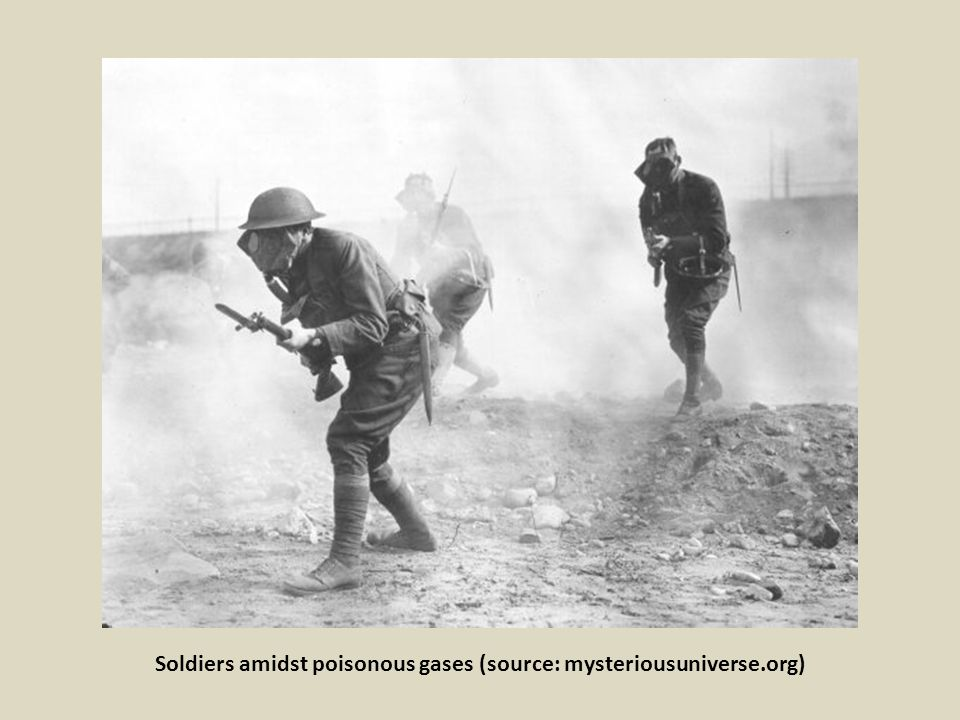 Soldiers amidst poisonous gases (source: mysteriousuniverse.org)
